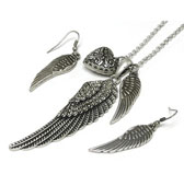 Angel of Healing Vintage Necklace & Earrings Set