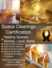 Space Clearings Certification