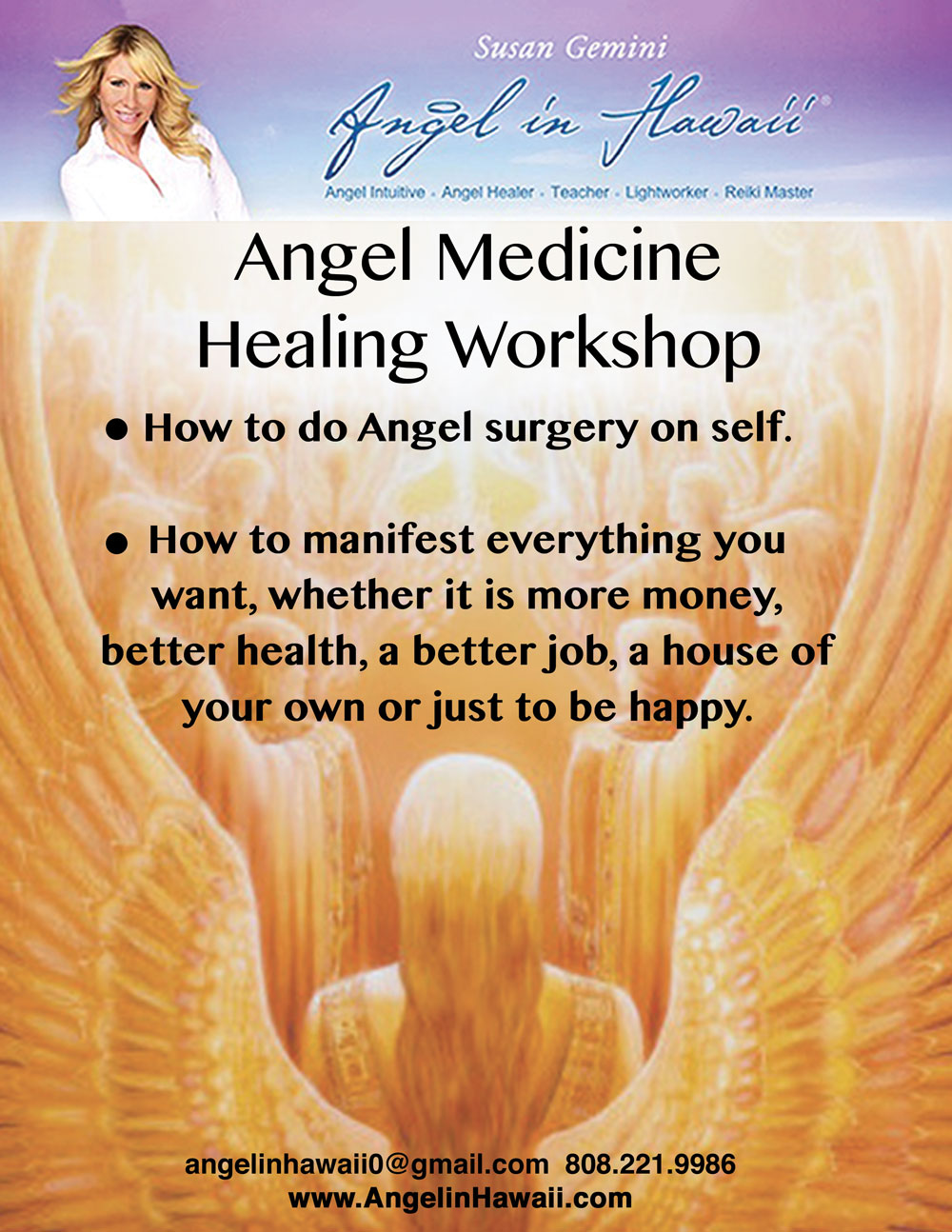 Angel Workshops Angel In Hawaii Susan Geminiangel In